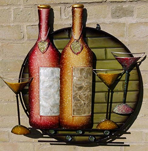 new-contemporary-metal-wall-art-sculpture-cocktail-wine-time