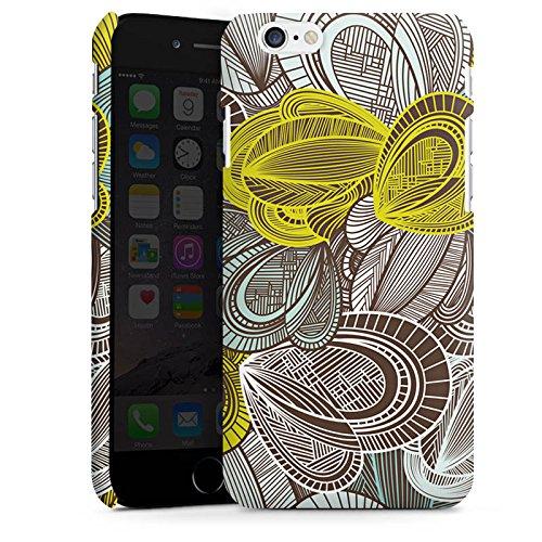 Apple iPhone 5s Housse étui coque protection Motif Motif Feuilles Cas Premium mat