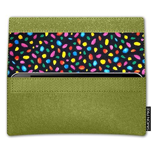 SIMON PIKE Apple iPhone 7 / 6 / 6S Filztasche Case Hülle 'NewYork' in elefantengrau 1, passgenau maßgefertigte Filz Schutzhülle aus echtem Natur Wollfilz, dünne Tasche im schlanken Slim Fit Design für gruen Filz (Muster 13)