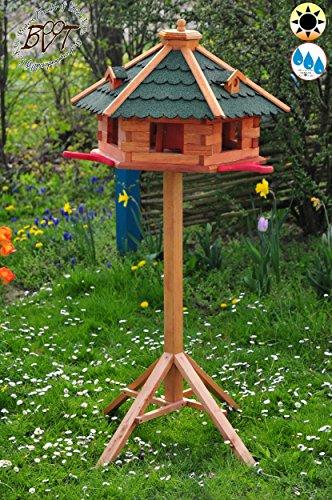 Vogelhaus, groß, XL mit Standfuß und Silo