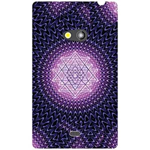 Nokia Lumia 625 Back Cover - Purple Star Designer Cases