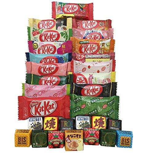 30 japanisches Kit Kat & Tirol Geschmacksortiment japanische Süßigkeiten (Kit Keks)