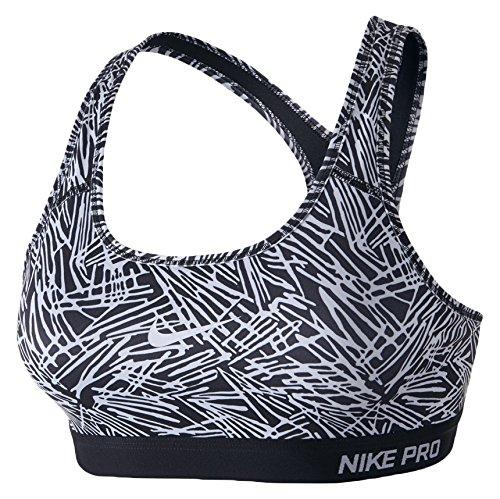 Nike, PRO CLSC PALM BRA PAD PRT-Reggiseno sportivo da donna MULTICOLORE nero/bianco M