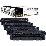 4 Original Reton Toner | 25% höhere Reichweite | kompatibel zu 046 046H für Canon 046BK 046C 046M 046Y 046HBK 046HC 046HM 046HY