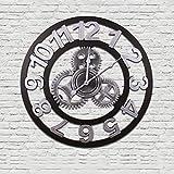 Sala De Estar De Estilo Europeo Reloj De Pared Engranaje Retro Reloj Creativo Reloj 3D,White