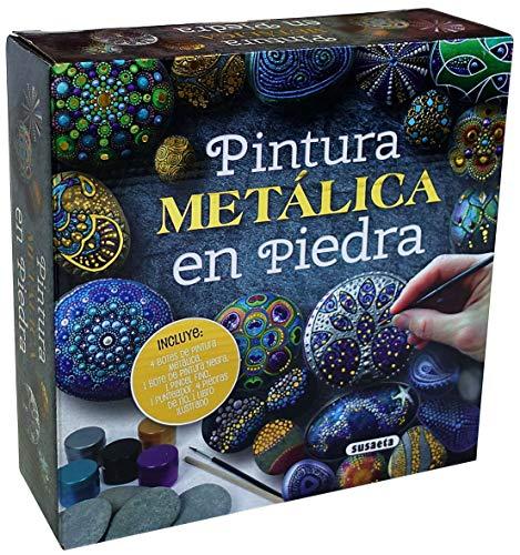 Pintura metálica en piedra (Mandalas en piedra)