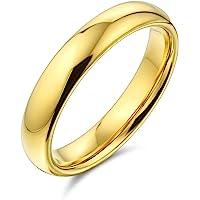 Bling Jewelry Placcato oro tungsteno matrimonio banda 4 mm