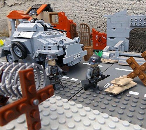 Cobi 2366 Sonderedition – Panzerspähwagen Sd.Kfz. 222 inkl. custom Wehrmacht Soldat aus original Lego© Teilen - 4