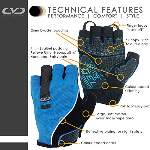 CVC-EvaGel-Padded-Fingerless-Cycle-Gloves-Short-Finger-Mitts-with-Anti-Slip-Grip-for-MTB-and-Road-Cycling-Gym-Crossfit-Weight-Lifting-Men-and-Women