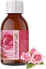 Rose Körperöl 100% natürlich, vegan, 1er Pack (1 x 60 ml) Anti Aging natürliche Hautpflege für jeden Tag