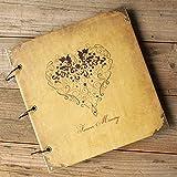 Debon Qualität Leder Cover DIY Foto Album, 3Ringe Scrapbook Bild Foto Album für Geburtstag Weihnachten Hochzeit Gästebuch