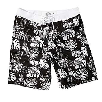 a5272793b7736 Hollister Men's Monarch Beach Swim Shorts Trunks Beach Boardshorts, Size XS,  Black Floral (