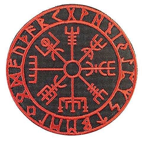Vegvisir Viking Compass Norse Rune Morale Tactical Attache-boucle Écusson Patch