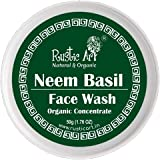 Rustic Art Organic Neem Basil Face Wash Concentrate for Deep Cleansing   Anti-Bacterial Anti-Fungal   50gm (Pack of 2)
