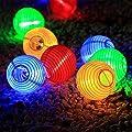InnooLight Solar Lichterkette bunt Lampion 30LEDs 6m Laterne Wasserdichte Gartenbeleuchtung mit 2m Zuleitungskabel als Innenbeleuchtung und Außenbeleuchtung LED Lichterkette außen Solar Lichterketten außen von Innoo Tech