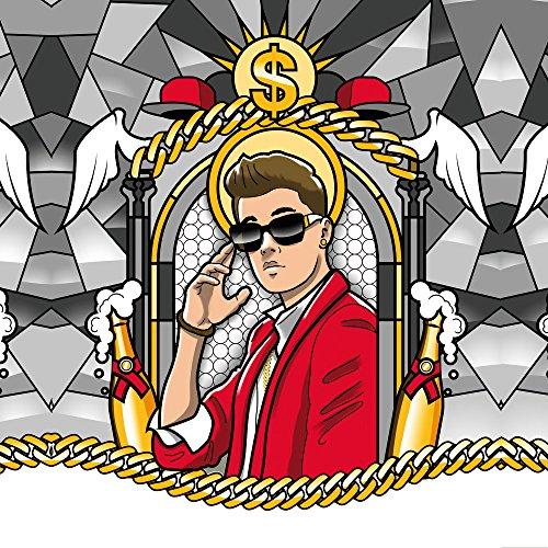Apple iPhone 5c Housse Outdoor Étui militaire Coque Justin Bieber Dollar Champagne Sac Downflip noir