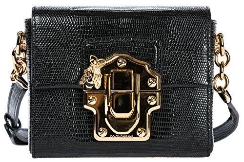 Dolce&Gabbana Umhängetasche Damen Tasche Schultertasche Messenger Leder lucia Sc
