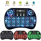 NiceEshop TM 2.4 G Mini Portable Wireless Keyboard With Touchpad Mouse Multi-media Handheld Android Keyboard For Windows Android Google Smart TV Linux Mac OS Colorful Backlit Colorful Backlit