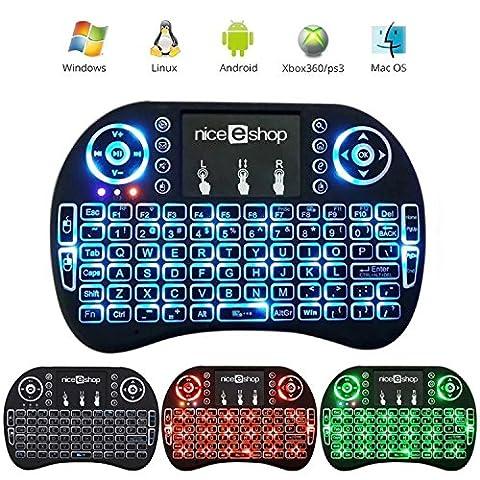 Auoker 2,4G Mini clavier sans fil rétro-éclairé avec pavé