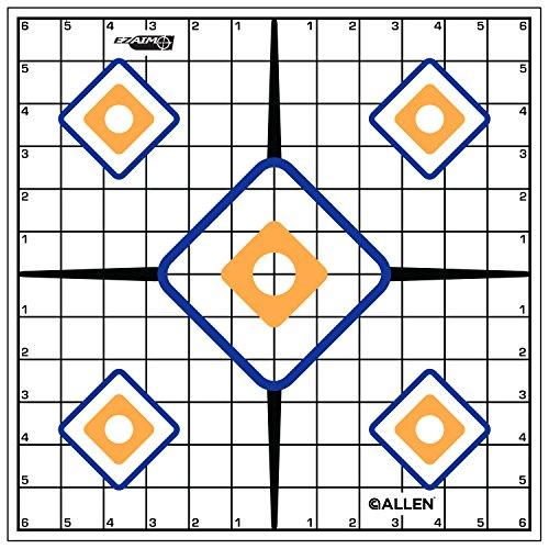 Allen Company EZ Ziel Sight Grid Target, 12Zoll, Weiß (Grid-ziel)
