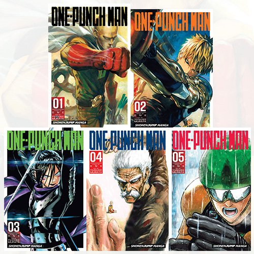 One-Punch Man Volume 1-5 Collection 5 Books Bundle