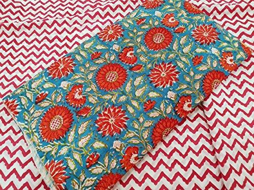 Buy 5 meter Cut pcs salwar suit Fabric Hand Printed Fabric Material,...