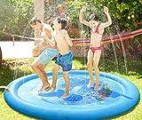 AOOPOO Wassermatte Wasser Pad Flexible Spiel Matratze Spielzeug Wasserspielzeug für Kinder Baby und Hund im Sommer Garten (Delphin)