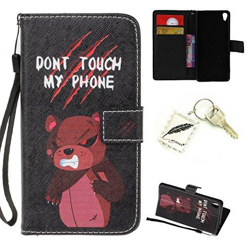 Preisvergleich Produktbild Silikonsoftshell PU Hülle für Sony Xperia XA (5 Zoll) Tasche Schutz Hülle Case Cover Etui Strass Schutz schutzhülle Bumper Schale Silicone case+Exquisite key chain X1) #KH (7)