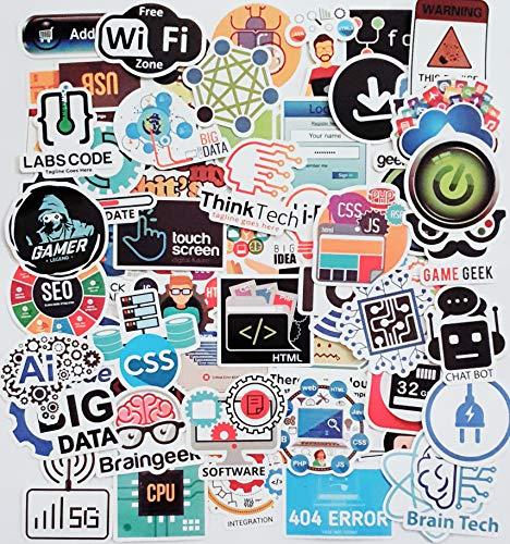 [100 Stück] Laptop-Sticker für Entwickler, Programmiersprache, inklusive Aufkleber IT-Logo, C++, Python, Linux, Swift, für Geeks, Java, Ingenieure, Hacker, Geeks, Coder, Auto-Vinyl-Aufkleber