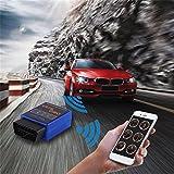BlackPJenny Super Mini ELM327 Bluetooth OBDII Car Scanner B06 Adattatore di interfaccia Scanner diagnostico Blu Universale 12V 45mA