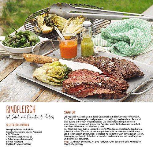 61BQ8i7F1ZL - Genussvoll Grillen (BK) 228119 2019: Broschürenkalender mit Ferienterminen. Jeden Monat ein neues Rezept für dwn Grill. Format: 30 x 30 cm