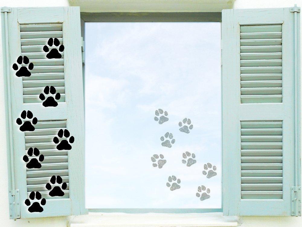Fenstertattoo selbstklebende ~ Hundepfoten Pfotenaufkleber ...