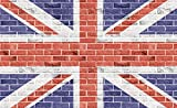Brick Wall Union Jack Flag Wallpaper Mural