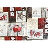 Navidad PVC mesa Cubrir/aceite de tela–Estilos surtidos–precio por metro 140cm wide Christmas Hearts & Stars