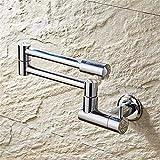 Cucina Bagno in ottone Retro 360 gradi di rotazione singolo freddo parete rubinetto lavabo lavandino a parete rubinetto rubinetto acqua fredda Tap