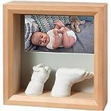 Baby Art My Baby Sculpture Bilderrahmen für ein Foto und zwei Hand und/oder Fuß 3DAbdruck, honey