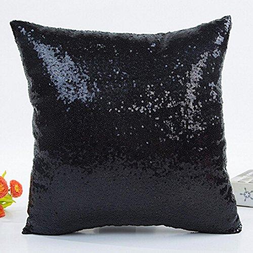 "Xinan Solid Color Glitter Pailletten Dekokissen Fall (45cm*45cm/17.7*17"" b) 40cm*40cm B"