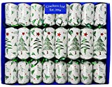 Fill Your Own Christmas Crackers - Box of 8 Crackers - Christmas Trees Design by Crackers Ltd (Cat F1)