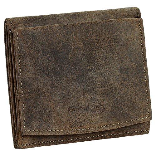 Luxus Herren & Damen Wiener Schachtel Mini Geldbörse Geldbeutel Portemonnaie braun echt Leder - Greenland Nature Stone