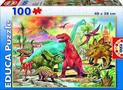 Educa Borrás 13179 - 100 Dinosaurios de Educa Borrás