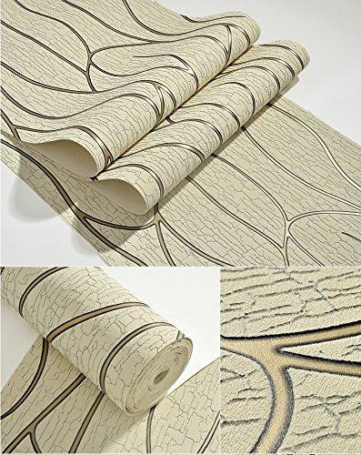 Vliestapete moderne Tapete TV Kulisse minimalistischen Wohnzimmer Mode dicken Wildleder Fransen ( Color : Beige ) (Baseball-kulissen)