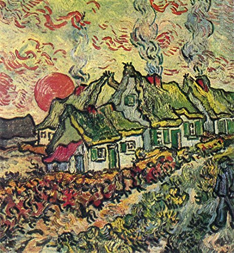 Vincent Van Gogh - Cottages Reminiscence of the North, 1890 - Medium - Semi Gloss - Brown Frame