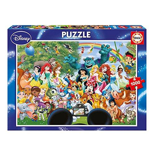 Educa Borrás-1000 Maravilloso Mundo 2 Disney Puzzle, Color (16297)