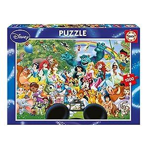 Educa Borrás-1000 Maravilloso Mundo 2 Disney Puzzle, Color, Talla Única (16297)