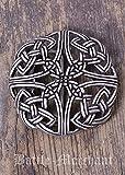 Cinturón Hebilla–keltisches patrón, durchbrochen LARP gürtelschließe Vikingo Medieval Plata o bronce plata