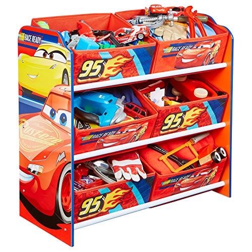 Aufbewahrungsregal - Spielzeugkiste - Spielzeugtruhe - Disney Regal 6 Boxen mit Motivauswahl (Cars 3)
