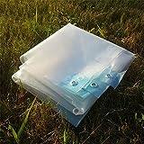 YXX- Klares Plane-wasserdichtes Hochleistungsplane-Boden-Blatt-Abdeckungs-Schuppen-Tuch-regendichte kleine Plane-Deckung mit Öse (größe : 10 * 12m)