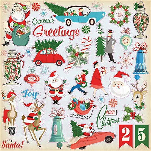 A Very Merry Christmas Cardstock Stickers 12