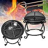 LaDicha Draußen BBQ Cooking Grill Feuer Gartengrillkamin Heizung Parque/Barbecue Rost