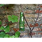 Upcycling- Hängelampe aus einer Wasserflasche (hellgrün) inklusive Teelicht